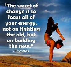 "Socrates Quote ""The secret of change is to focus..."