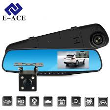 E ACE Full HD 1080P <b>Car Dvr</b> Camera Auto <b>4.3 Inch</b> Rearview ...