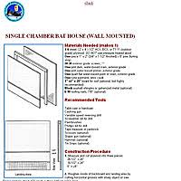 Bat House Plans   Free Bat House PlansSingle Chamber Bat House PDF Image