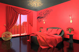 room paint red: creative red and black bedroom paint  for home design furniture decorating with red and black