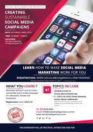 creating sustainable social media campaign social media by the end of this course participants will