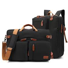 <b>17 Inch</b> Convertible Briefcase <b>Men</b> Business Handbag Messenger ...