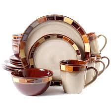 dinnerware set  piece plates bowls kitchen service banquet