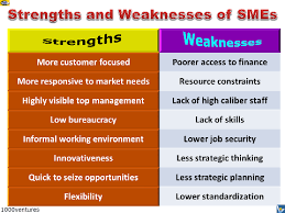 strrengths and weaknesses of smes  small and medium sized  smes strengths and weaknesses