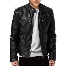 Men <b>Vintage Cool</b> Leather Jacket Long Sleeve <b>Autumn Winter</b> Stand ...