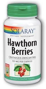 <b>Hawthorn</b> Berries <b>525 mg</b> 100 Vcaps , made by solaray