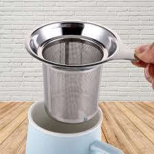 <b>Reusable</b> Stainless Steel <b>Mesh Tea Infuser Tea Strainer</b> Teapot Tea ...