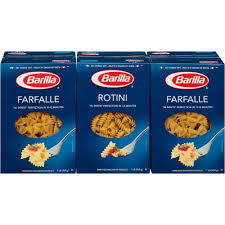 barilla rotini and farfalle pasta oz pk bj s whole club barilla rotini and farfalle pasta 16 oz 6 pk