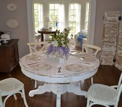 Distressed White Kitchen Table Cottage Tour Cottage Fix