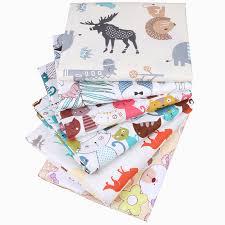 <b>Nanchuang</b> 6Pcs/Lot Cartoon Printed <b>Cotton</b> Fabric For DIY Quilting ...