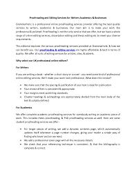 dissertation consultation service proofreading UK