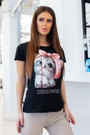 Черные <b>женские футболки</b>: купить черную <b>футболку</b> в России в ...