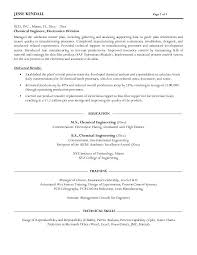 free chemical engineer resume example resume format for chemical engineer