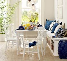 pottery barn style dining table:  lachman fixed dining table o