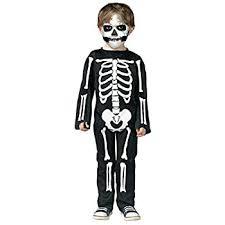 Boys Multi Coloured <b>Skeleton</b> Jumpsuit Kids Fancy Dress <b>Costume</b> ...