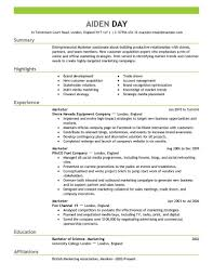 marketing resume examples com marketing resume examples is one of the best idea for you to make a good resume 17