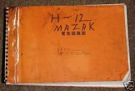 yamazaki mazak h 12 h12 cnc hmc wiring diagram manual image is loading yamazaki mazak h 12 h12 cnc hmc wiring