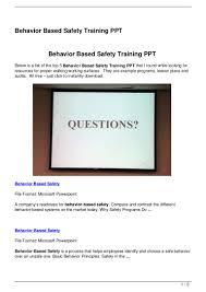 behavior based safety training ppt 120825060632 phpapp01 thumbnail 4 jpg cb 1345874804