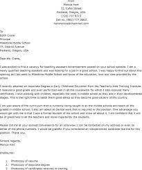 Sample Application Letter For Teacher Job Cover Letter Templates