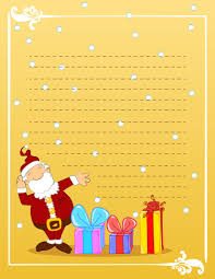 christmas stationery writing templates to send to santa santa design postcard gold