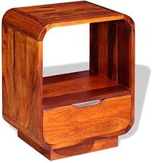 vidaXL <b>Nightstand</b> with Drawer <b>Solid</b> Sheesham Wood <b>40x30x50 cm</b>