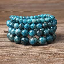 <b>Lingxiang</b> 4/6/8/10/12mm Natural blue apatite bracelet is suitable for ...