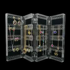 Fashion <b>Foldable Clear</b> Acrylic Jewelry Organizer Holder Makeup <b>4</b> ...