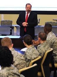 photos administrative assistant to the secretary of the air force tim beyland shares his leadership experiences during