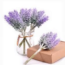 <b>6Pcs</b>/<b>lot</b> Artificial <b>Flowers Romantic</b> Mini Plastic Lavender for ...