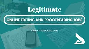 Legitimate Online Editing and Proofreading Jobs  Complete List