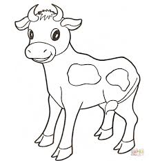 Small Picture Baby cow coloring page Free Printable Coloring Pages