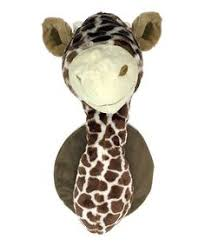 x plush wall: this plush wall mounted animal noggin adds a playful safari themed flourish to a little ones w x h x dpolyester plushimported