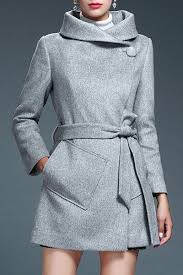 <b>Stylish Turn-Down Neck Long</b> Sleeves Pure Color Pocket Design ...