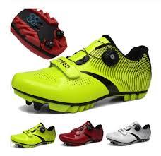 Men Bicycle Shoes Black Green Mens <b>Professional Road Mountain</b> ...