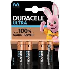 <b>Duracell Ultra</b> Power Batteries Size <b>AA</b> MN1500 <b>LR6</b> 1.5V Pack of 4 ...