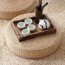 Still Sitting Meditation <b>Cushion Set</b> Natural <b>2</b> Piece Zafu and Zabuton