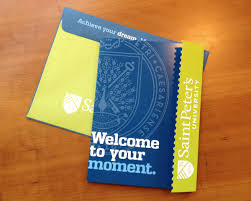saint peter s university acceptance package student each spring high school seniors anxiously await to see which colleges they d been accepted to here s our project for saint peter s university the