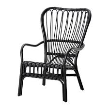 ikea storsele high back armchair black furniture ikea