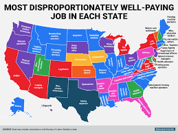 the most disproportionately well paying job in each state mental the most disproportionately well paying job in each state