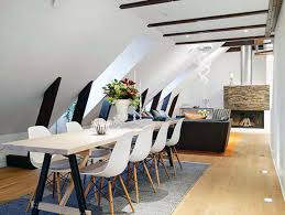 attic living room design youtube: apartment dining room table for small narrow with living combo modern chair rooms set long tables