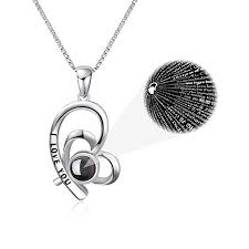 YFN 925 Sterling Silver I Love You Necklace 100 ... - Amazon.com