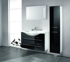 large size design black goldfish bath accessories: modern home interior design ideas for small bathroom equipped with elegant shiny black floating vanity combinated bathroom large size
