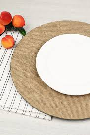 charger plates decorative: burlap charger plates plate charger burlap in natural