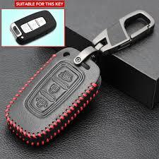 <b>Leather 3 Buttons</b> Car Key Cover For Kia Ceed Cerato Optima Rio 3 ...