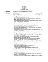 objective for resume for restaurant resume examples 2017 objective for resume for restaurant