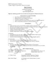 security officer resume sample resume security guard security objectives for resume