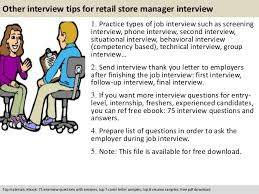 retail store manager interview questions  pdf 11