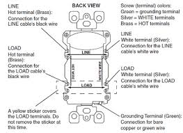 cooper gfci outlet wiring diagram cooper image leviton gfci outlet wiring diagram leviton image on cooper gfci outlet wiring diagram