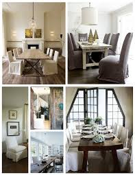 dining table parson chairs interior: traditional dining room design with cozy parsons chairs and rustic dining table