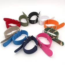 Top Colorful Buckle Nylon Wristwatch Band <b>18mm 20mm 22mm</b> ...